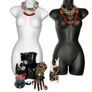 30+ Jewelry Lot Necklaces Bracelets Rings Bundle